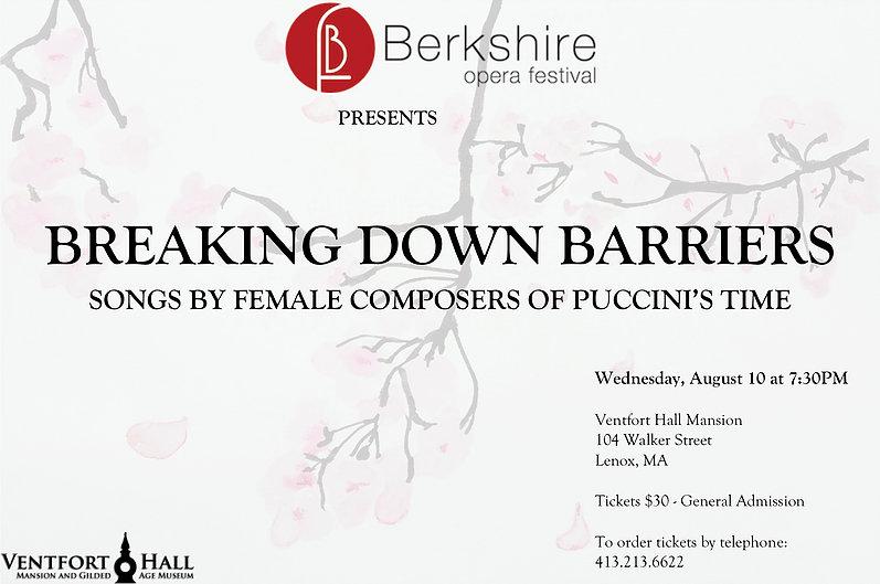 Berkshire Opera Festival Recital - Breaking Down Barriers