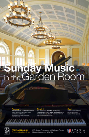 Elysian Trio - Sunday Music in the Garden Room Concert